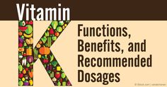 Vitamin K1 and K2 are two underappreciated nutrients that are actually crucial for your health. http://articles.mercola.com/sites/articles/archive/2015/01/11/vitamin-k1-k2.aspx