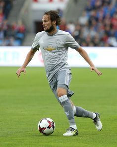 Daley Blind of Manchester United in action against Valerenga today at Ullevaal Stadion on July 30, 2017 in Oslo, Norway.