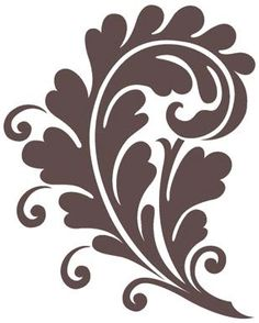 Magenta - Cling Rubber Stamp - Large Rococo Swirl,$7.99