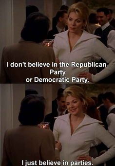 The only parties that matter are the ones not associated with politics.