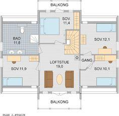 Et nytt hjem: bra planløsning 2.etg. Floor Plans, Pictures, Floor Plan Drawing, House Floor Plans