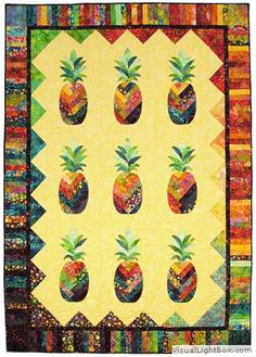 pineapple quilt - something kind of like this but in yellow and green batik