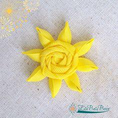 Sun Ribbon Sculpture Hair Clip Summer Hair Bow by EllaBellaBowsWI