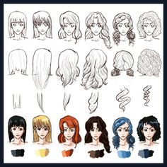 Hair Styles: Straight to Curly by *foreverfornever740 on deviantART