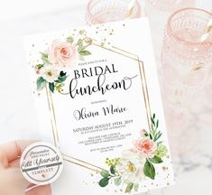 Bridal Luncheon Invi