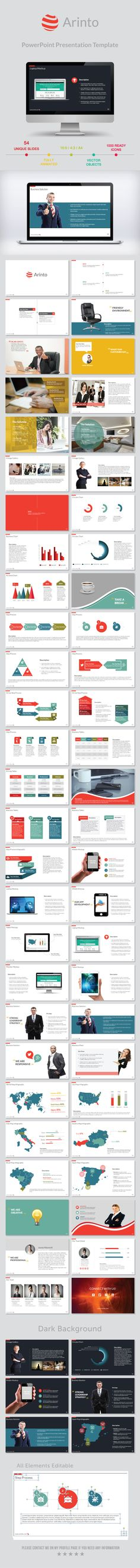 Arinto PowerPoint Presentation Template #design #powerpoint Download: http://graphicriver.net/item/arinto-powerpoint-presentation-template/11528576?ref=ksioks