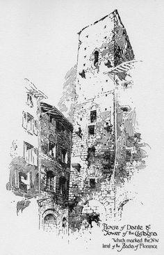 """Compendio Los thrifters ': Herbert Railton-- """"Pen Dibujos de Florencia"""""""