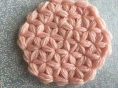 ポイントスターの円編み【かぎ針編みのコースター】How to crochet point star coaster - YouTube