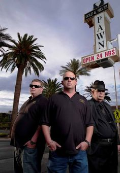 """The guys of """"Pawn Stars,"""" also known as the family that runs Gold and Silver Pawn, a Las Vegas pawn shop."""