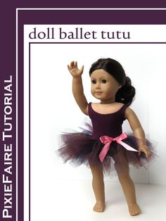 """Make a fast and easy tutu for your 18"""" doll; free ballerina craft tutorial on PixieFaire.com! pixie fair craft blog post"""