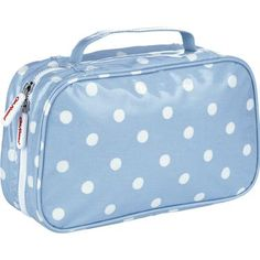 Spacious and stylish, this classic Spot two-fold toiletry bag is ideal for holding all your lotions and potions together in one place.  Finished in our durable wipe-clean oilcloth, with zip closure and two separate transparent compartments, so you can easily find what you need! Complete the set with matching make up case.