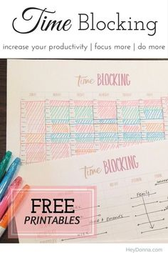 Time Blocking 101 plus Free Printable Worksheet great for scheduling projects!