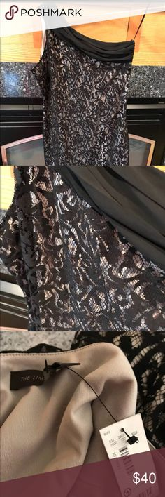 NWT Dress from The Limited NWT. Bundle and save. Gorgeous one shoulder dress with lace overlay The Limited Dresses One Shoulder