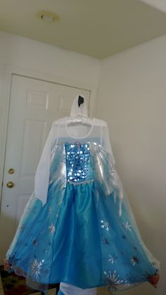 Beautiful traditional Frozen Elsa Costume dress.  Ready to ship out by early October by fancyfrozencostumes on Etsy