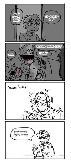 Eddsworld Comics, Cute Comics, Funny Comics, Cartoon As Anime, Anime Fnaf, Stupid Funny Memes, Funny Relatable Memes, Eddsworld Tord, Eddsworld Memes