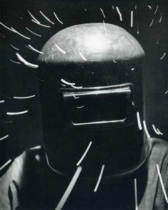 Andreas Feininger - A Welder Wearing a Mask