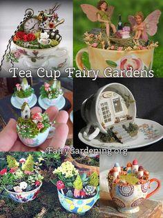 fairy garden DIY Fairy Gardens - Page 41 of 1271 - Mini Fairy Garden, Fairy Garden Houses, Fairy Gardening, Fairies Garden, Fairy Crafts, Garden Crafts, Garden Ideas, Teacup Crafts, Fairy Doors