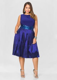 Sequin Waist Taffeta Skirt Dress Sequin Waist Taffeta Skirt Dress
