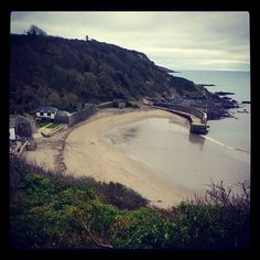 Polkerris Harbour. St Austell Bay Places Ive Been, Places To Go, Deep Sea, Dog Walking, Cornwall, Walks, Britain, Heaven, River