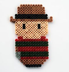Freddy Krueger perler beads by ThePlayfulPerler on deviantart