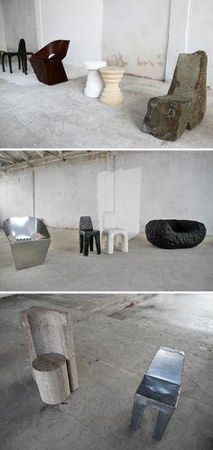 Max Lamb´s exercises at seating ... Milan Design Week