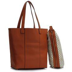 Barva kabelky: hnědá. Velikost 33 cm (Š) a 37.5 cm (V). Zdarma malá taštička. Tato stylová kabelka se nosí v ruce. Kabelka má prostornou vnitřní kapsu.