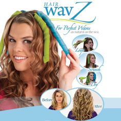 Hair Wavz is het revolutionaire stylingsysteem dat uw haar transformeert van saai naar prachtig, van kroes naar schitterend, en van onwillig naar betoverend binnen enkele minuten. Het is volledig natuurlijk en uw haar beschadigt nooit.  Prachtige krullen, weldadige lokken, onstuimige volume, veerkracht en volume. Niet langer meer bezig met rollen en wikkelen van uw haar rond hete krulijzers en rollers.