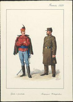 Guida di Garibaldi - Compagnia mitraglieri, Francia 1871