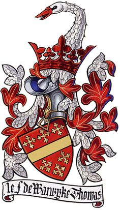 In early arms the crest often continued into the mantling as in this elegant modern example of the arms of Thomas de Beauchamp, Earl of Warwick. http://www.internationalheraldry.com/