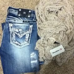 Miss Me Jeans and Scarf From Buckle
