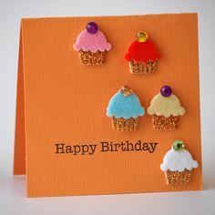 NL Happy Birthday Cupcakes Mini Card