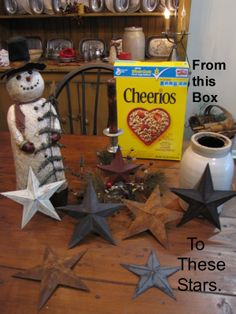 25. From Cheerios box to prim stars