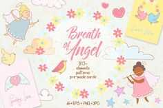 Breath of Angel. Romantic kit by Daria Chegaieva on Creative Market