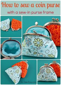 Free pattern and lots of detailed photos on how to sew a coin purse using a sew-in purse frame.  All my girl friends are getting these this year :-)