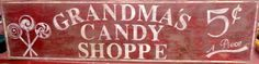 Vintage look and distressed Candy Shoppe sign by ATouchofChic, $40.00