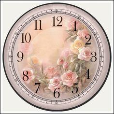 images attach c 11 116 907 Diy Clock, Clock Decor, Decoupage Vintage, Decoupage Paper, Clock Face Printable, Clock Template, Clock Flower, Diy And Crafts, Paper Crafts