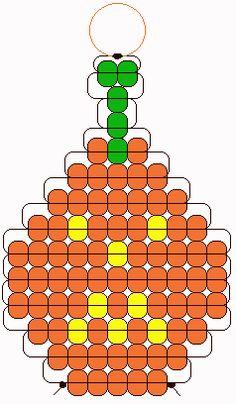 PEARLS - BEADS / PERLES / PARELS - pumpkin beadie pattern
