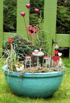 Valentine's Day in the Miniature Garden