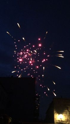 Beautiful fire works for the Fourth of July by our neighbor