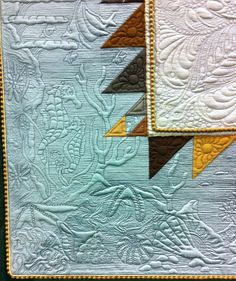 The Shell Collector by Bethanne Nemesh.  Close up photo by Cat Patches:  2013 Machine Quilting show