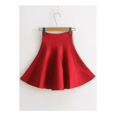 High Waist Solid Color Mini Skirt (£16) ❤ liked on Polyvore featuring skirts, mini skirts, red, high waisted skirt, red mini skirt, high waisted skirts, short skirts and red skirt