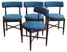 Vintage G-Plan Teak Dining Chairs - Set of 4 - Midcentury - Dining Chairs - san francisco - by Chairish