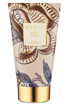 AERIN Beauty 'Amber Musk' Body Cream - a richly luxurious, deeply replenishing formula that drenches you with healing moisture to soften and revitalize skin. Its scent combines velvety ambrox with coconut water, rose centifolia absolute, benzoin and musk.