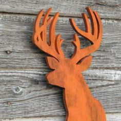 Deer Head Sign Modern Home Decor Wooden Trophy by SlippinSouthern, $59.00