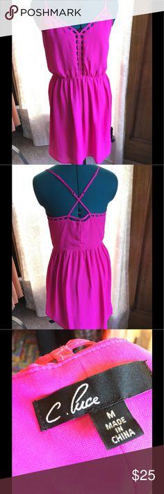 Magenta/Hot Pink C. Luce Dress Never worn, but without tags. Pretty style and comfy. C. Luce Dresses