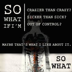 So What! I love this song!!!! Humain Three Days Grace