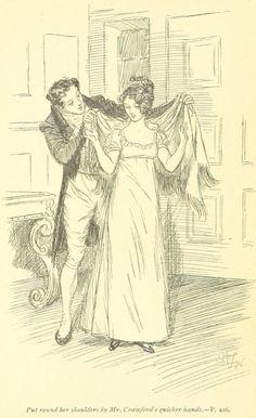 Jane Austen Mansfield Park – put round her shoulders was seized by Mr. Crawford's quicker hand Jane Austen Mansfield Park, Romance, First Choice, Nature Journal, Classic Literature, Pride And Prejudice, Period Dramas, Vintage Love, Book Art