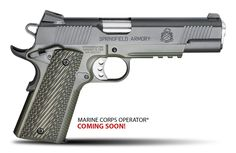 The 1911 Loaded handgun is one of the best models you'll find at Springfield Armory, where you'll also find many other top-of-the-line firearms. Springfield Armory Marine Corps Operator and OD, nuff said Springfield Armory 1911, Springfield Operator, Springfield Pistols, 1911 Pistol, Survival Weapons, 45 Acp, Home Defense, Airsoft Guns, Game