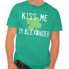 Personalized Name Kiss Me St. Patrick's Day Men's Shirt
