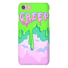 Original art printed in the USA on protective phone cases. Choose from Snap Cases, Tough Cases and BakPak Cases. An adorably grimey and slimey pastel design for your iPhone or iPad case. Reminiscent of 90s Nick and inspired by Japanese kawaii fashions, let your inner cute creep shine.